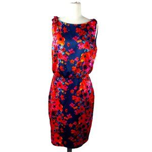 Evan Picone Navy/Pink Spring Dress Size 8